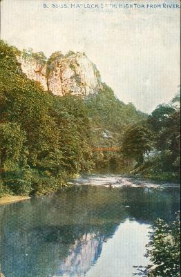 Matlock Bath, High Tor from the River
